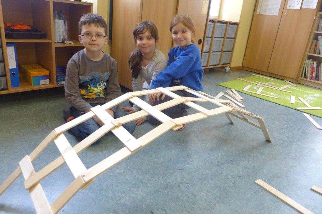 Brückenbau aus Holz